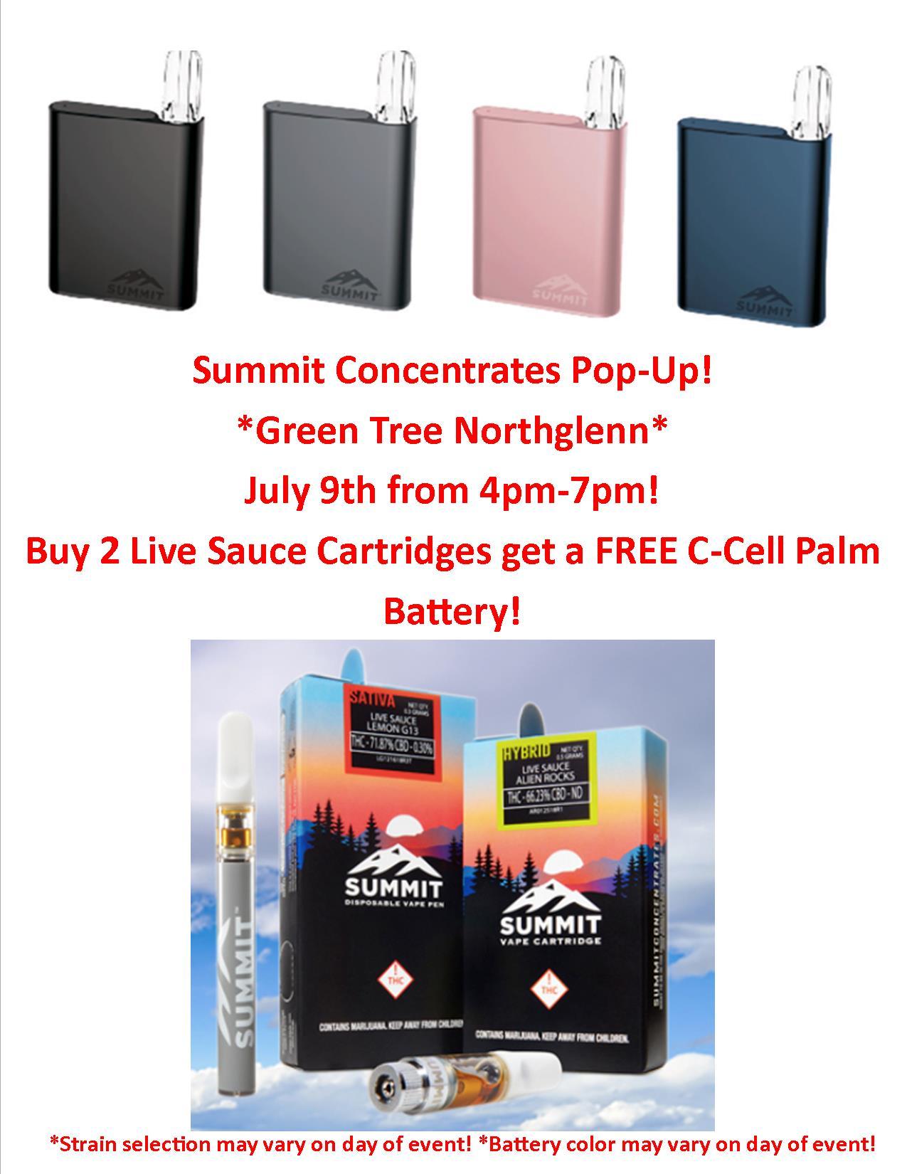 Summit Concentrates Pop Up -Northglenn - Green Tree Medicinals
