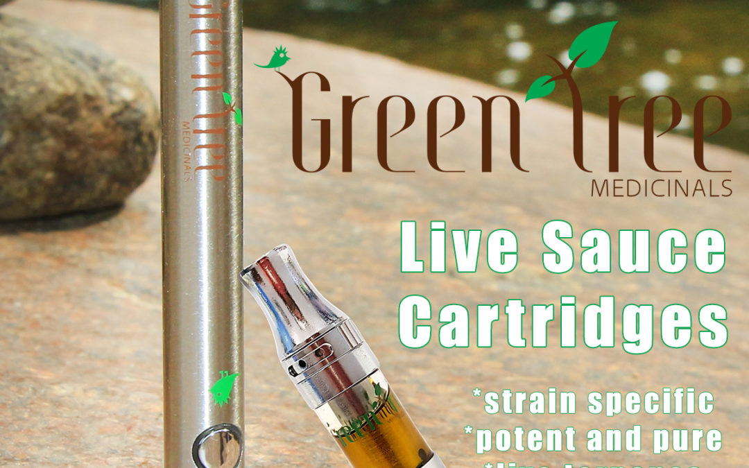 Introducing Live Sauce Cartridges from Green Tree Medicinals!
